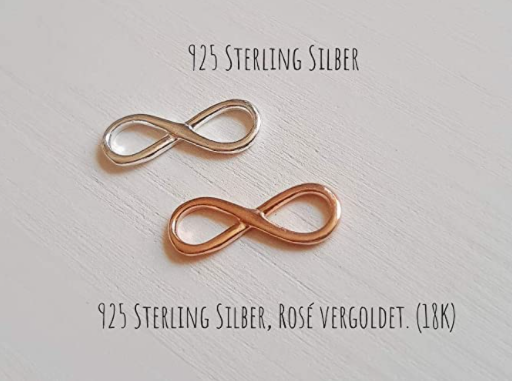 Partnerarmband mit Unendlichkeits-Symbol in 925er Silber